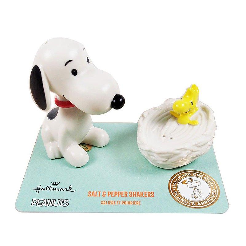 Snoopy椒鹽罐-史努比與糊塗塔克【Hallmark-Peanuts 手工器皿】