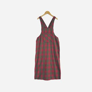 Dislocation vintage / Scottish plaid dress no.830 vintage