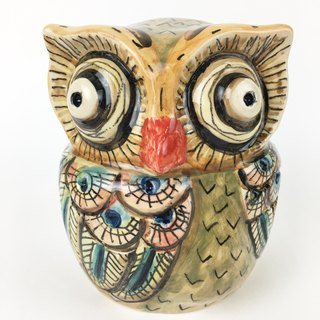 Nice Little Clay three-dimensional hand-decorated decorations _ Owl 7