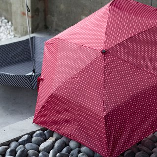 Water jade dot three fold ultra light anti-UV umbrella