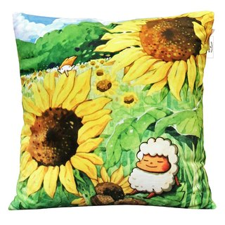 Afu illustrator warm heart pillow - warm sunsensen (spot)