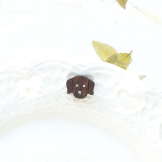 Dog wooden earring ( 925 sterling silver studs) one per purchase