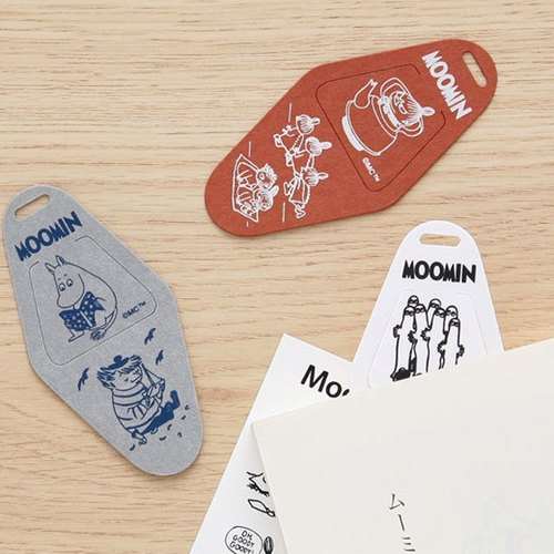 Moomin retro license plate modeling bookmarks
