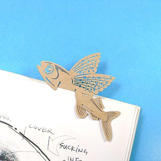 MARK TAIWAN Mai Mai Zoo - Red Spotted Flying Fish (Paper Bookmark)