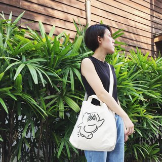 Dual-use large canvas bag - running Goro