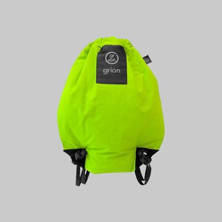 grion waterproof bag - back section (S) fluorescent green