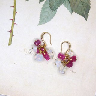 Flower Series  Rosestone Dangle Earrings