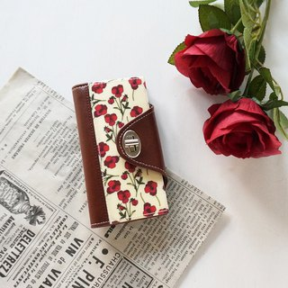 Rose Red, iPhone case, Liberty notebook type smartphone case