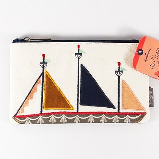 Geometry Sailing Cloth Clutch [Hallmark-Livy Long Series Designer Tote]