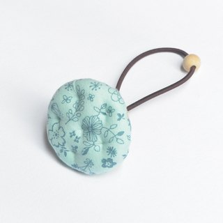 Hand cloth biscuits hair bundle - blue floral