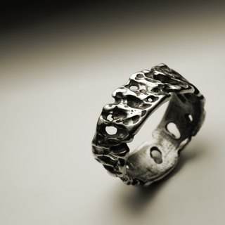 Rough rock texture ring