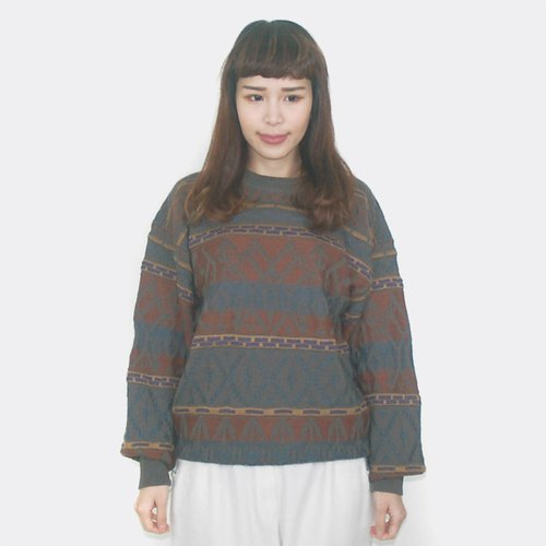 Vintage striped wool vintage sweater BF5034