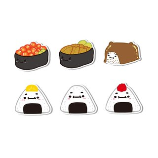 Waterproof stickers - warship sushi and rice balls
