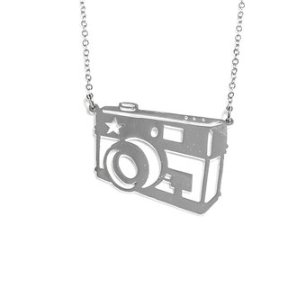 Graphic small cute camera pendant