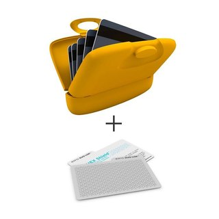 Capsul Case + DUO-LOK  RFID Tabs - Warm Yellow