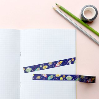 Outer space  Paper tape 1.5cm
