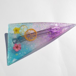 Resin hair clip, Hair pin with real flowers, Flower hair accessory, Pink color