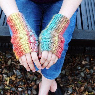 Handmade - happy - wool hand-woven gloves