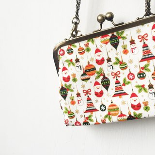 Wahr_Christmas clasp frame bag/with chain/ cosmetic bag / shoulder bag / small objects package / portable package