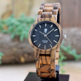 EINBAND Dank Zebrawood 32mm Wooden Watch