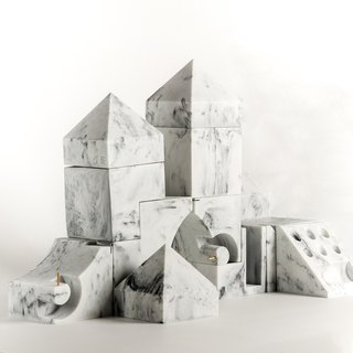 Marble。Building blocks。5 pcs / 1set