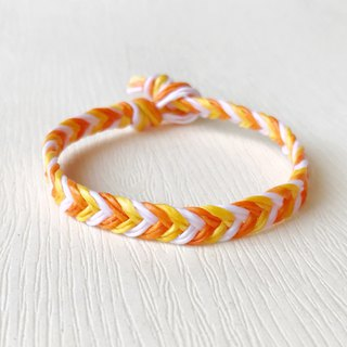 Happy color - silk wax line / hand-woven bracelet