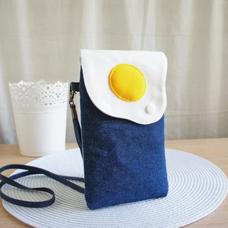 Lovely [dark blue denim denim] slippery mobile phone bag, glasses bag iphone 8 plus available
