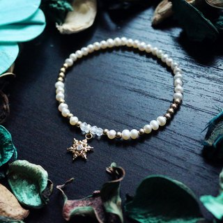 Northland Snowson Series - Chaoyang Broken Snow*Souphenir*Sterling Silver Plated Pearl Bracelet