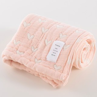 [Japan made today's crepe] six heavy yarn towel - light pink love