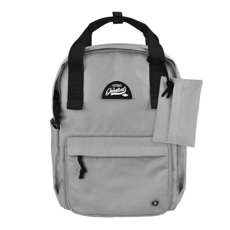Grinstant混搭可拆組式13吋後背包 - 黑白系列 (灰色)