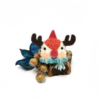 [limited during Christmas] scarf reindeer badge / magnet / charm exchange gifts