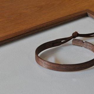 Neat simple bangle Walnut Small