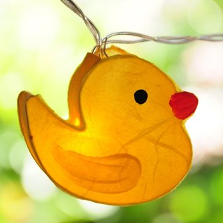 20 LED Battery Powered Duck Paper Lantern String Lights for Home Decoration Wedding Party Bedroom Patio and Decoration