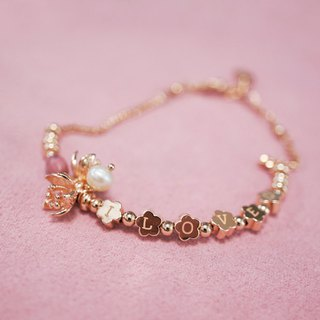Bridesmaid gift rose rose stone Ture Love spelling bracelet 2 into the preferential group sister ceremony bridesmaid