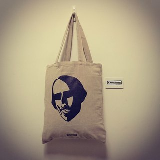 Shakespeare 's Striking Straight Cotton Tote Bag