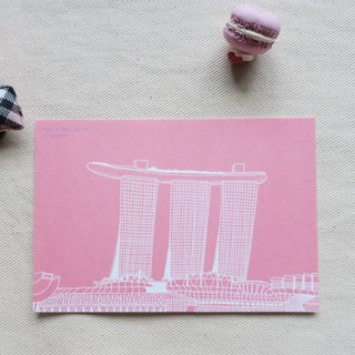 Travel Scenery Singapore - Jinsha Hotel / Illustration Postcard