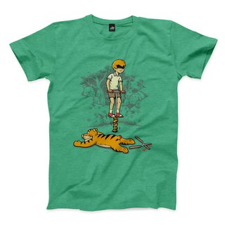 Jumping Tiger Cool - Heather Green - Neutral T-Shirt