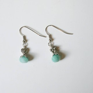 Christmas] [stone of hope Handmade X natural stone earrings