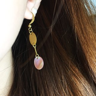Can change the folder type - geometric drape retro earrings - dimple girl - a single branch