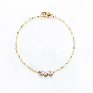 ::Girl Series :: Three small diamond bracelets