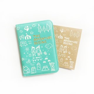 The Adventure Begins series passport clip _ soda green