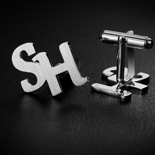 Initials Cufflinks - Wedding Cufflinks - Personalized Cufflinks monogram