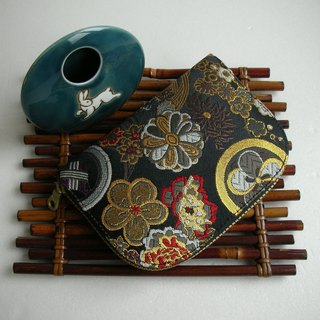 "Beijing West Jin Yu Jin Weaving ""Inkland Flower Pills"" - Short Clip / Wallet / Coin Purse / Gift - Last"