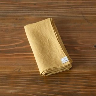 [Stock Last one point SALE] plant dyeing linen wrapping cloth bark color (yellow skin color) 7560 → 5400 yen