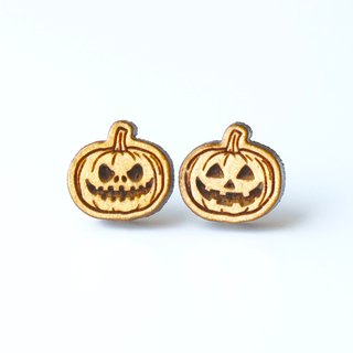 Plain wood earrings- Halloween