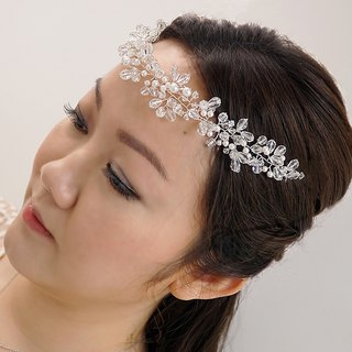 Handmade Bridal Headpiece | Greek Goddess Swarovski Crystal Hair Vine