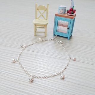 925 sterling silver anklets small love lucky anklet