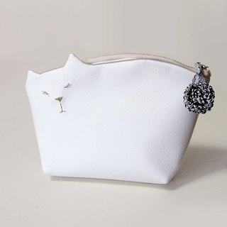 pure-white [MTO] No. kitten pouch 009