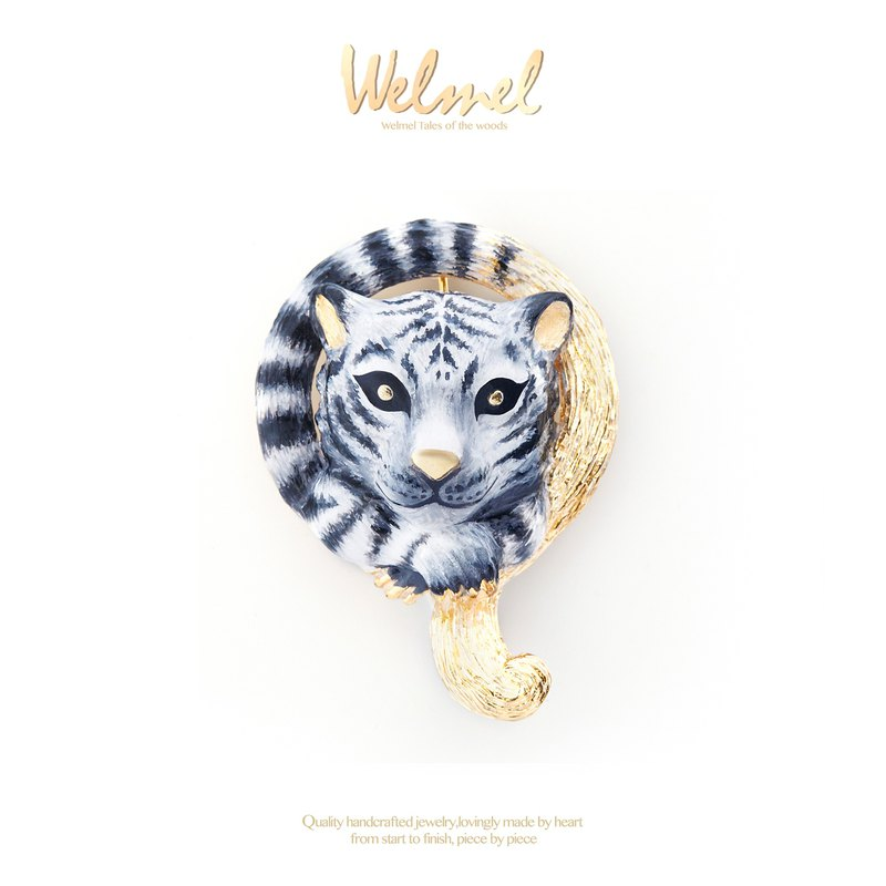 Snow Mountain Baby Tiger Brooch