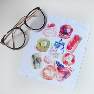 【Watercolor illustration superfine fiber glasses cloth】Afternoon Tea